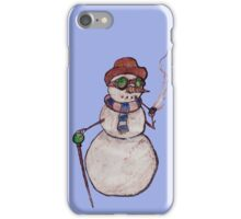 Smoking Steampunk Snowman iPhone Case/Skin