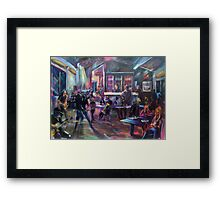 Pop Standen - Beach Break Bar Framed Print