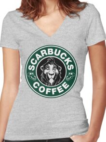 Scarbucks Coffee Women's Fitted V-Neck T-Shirt