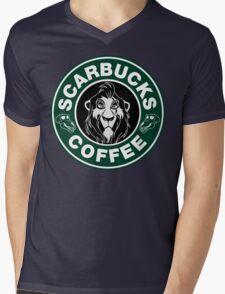 Scarbucks Coffee Mens V-Neck T-Shirt