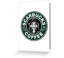 Scarbucks Coffee Greeting Card