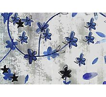 Vintage floral print Chinoiserie blossoms Photographic Print