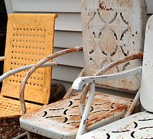 Rusty Lawn Chairs by Betty Mackey