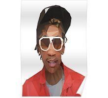 Low Poly Wiz Khalifa Poster