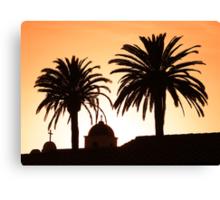 Mission Sunset Canvas Print