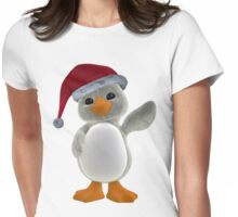 Holiday Penguin Tee Womens Fitted T-Shirt
