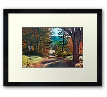 Down A Country Road Framed Print