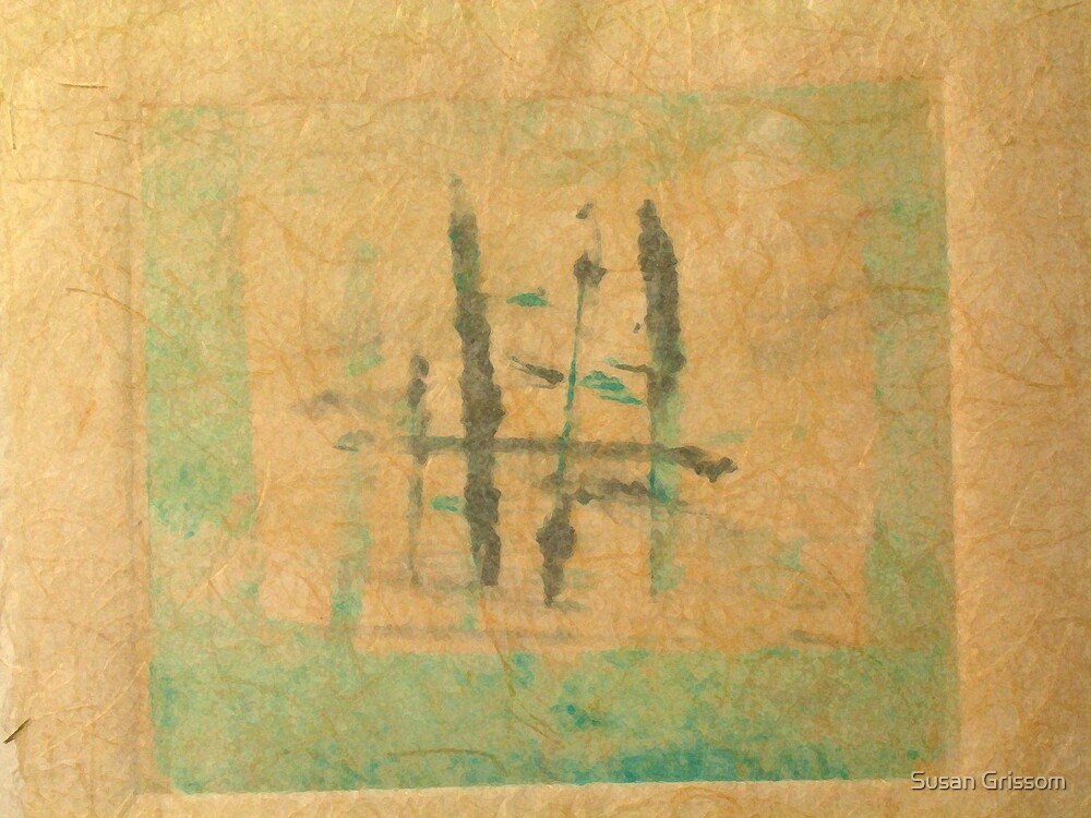 Monotype with Asian Influence by Susan Grissom