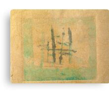 Monotype with Asian Influence Metal Print