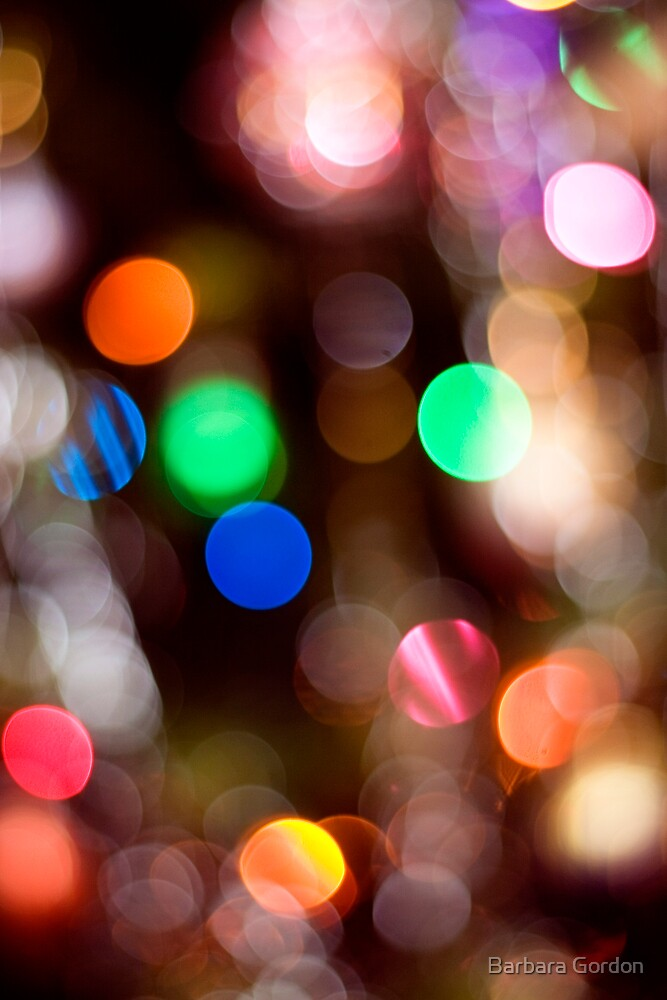 Glowing Lights 1 by Barbara Gordon