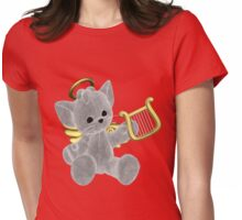 The Christmas Kitty Womens Fitted T-Shirt