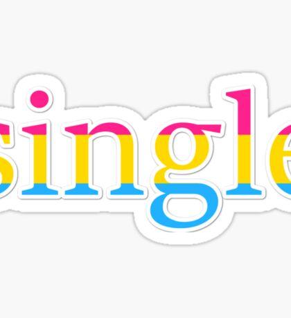 Single - pansexual Sticker