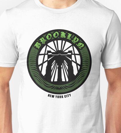 Brooklyn Bridge - NYC - New York City Money Green Unisex T-Shirt