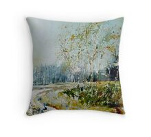 Watercolor fagnes  Throw Pillow