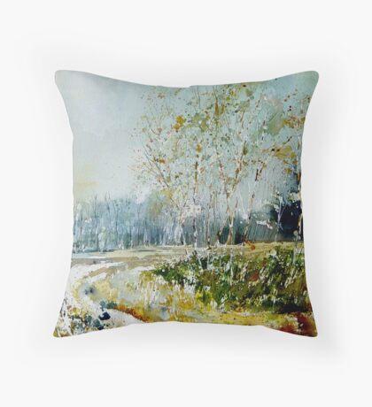Watercolor fagnes  Throw Pillow
