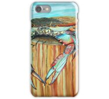 Blue Crab on Piling iPhone Case/Skin