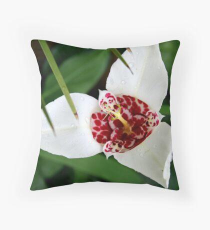 Crimson Purity Throw Pillow
