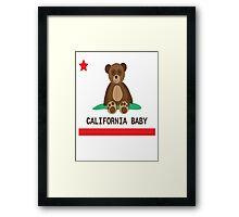 CALI BABY Framed Print
