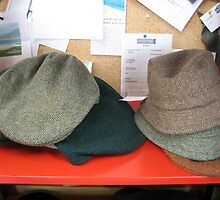 Harris Tweed - Hats and Caps by MidnightMelody