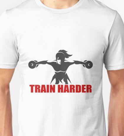 Fitness Emblem with slogan Train Harder Unisex T-Shirt
