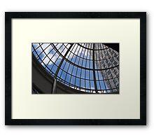 Skyscraper  through Domed Roof Framed Print