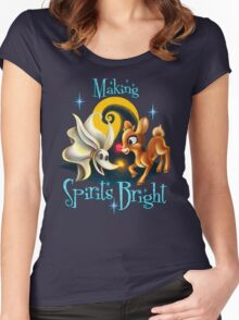 Making Spirits Bright Women's Fitted Scoop T-Shirt
