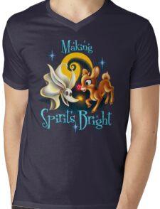 Making Spirits Bright Mens V-Neck T-Shirt
