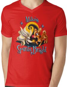 Making Spirits Bright Mens V-Neck T-Shirt