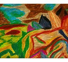 Colors Oil Pastel Photographic Print