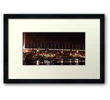 Bolte Bridge over the Dockyards Framed Print