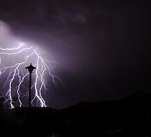 Lightning over the 'burbs by rflower