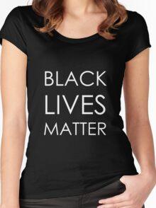 Black Lives Matter (Ferguson) Women's Fitted Scoop T-Shirt
