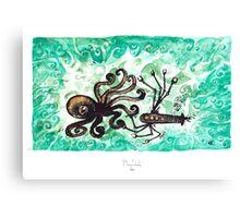Octofight! Canvas Print