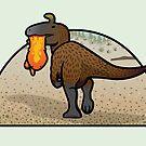 Cryolophosaurus by David Orr