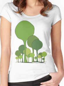 Green palette *quatre saisons series/Spring Women's Fitted Scoop T-Shirt