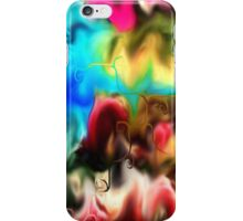 abstract art, blue, purple, yellow, white, red, black iPhone Case/Skin