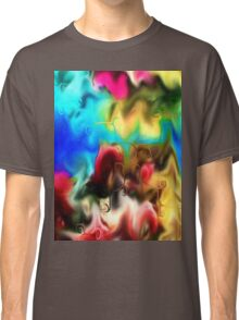 abstract art, blue, purple, yellow, white, red, black Classic T-Shirt