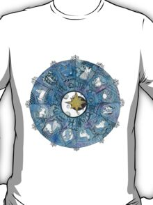 Watercolor Zentangle Zodiac Chart T-Shirt