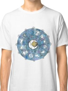 Watercolor Zentangle Zodiac Chart Classic T-Shirt