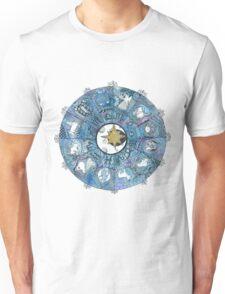 Watercolor Zentangle Zodiac Chart Unisex T-Shirt