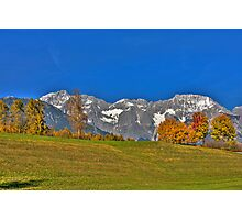 Mountains, Sky and Autumn Colors Photographic Print