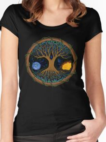 Astral Tree of Life Women's Fitted Scoop T-Shirt