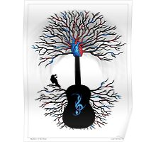 Rhythms of the Heart - ( surreal guitar tree art ) Poster