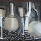 Glasses, Bottles and Bowl by Kargin