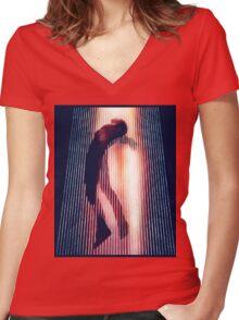 Yeezus  Women's Fitted V-Neck T-Shirt