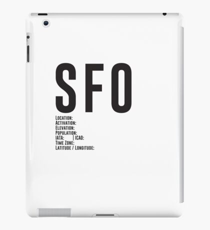 San Francisco Airport SFO iPad Case/Skin