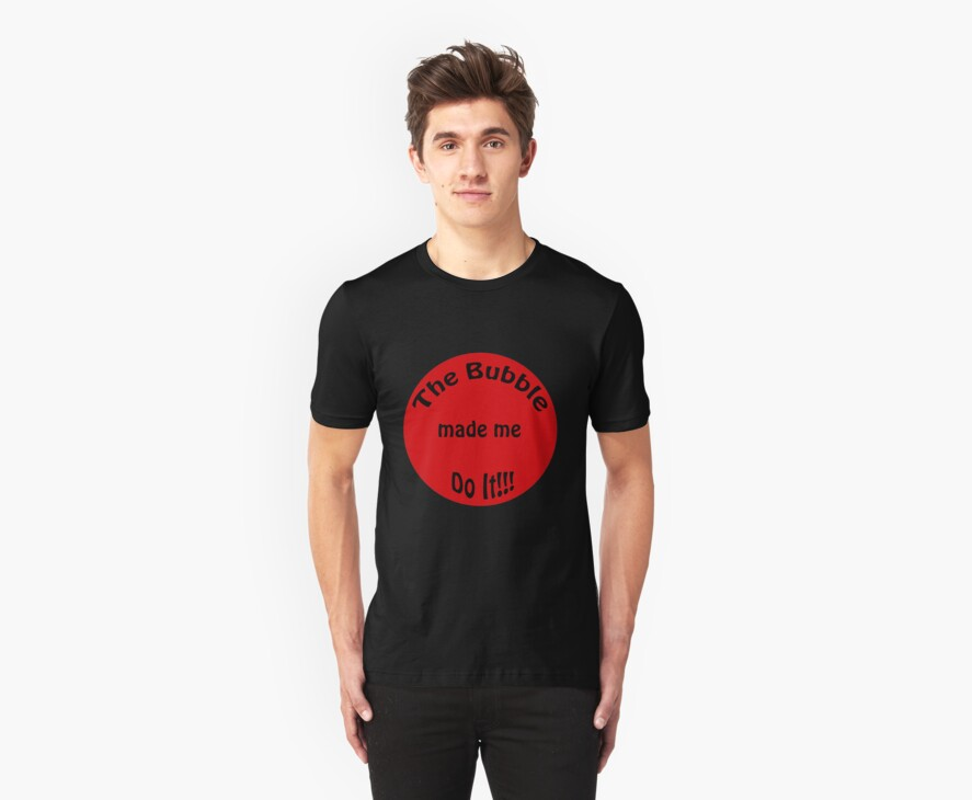 its the bubbles fault (mens shirt) by Catherine Crimmins