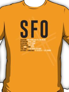 San Francisco Airport SFO T-Shirt