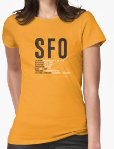 San Francisco Airport SFO Womens Fitted T-Shirt