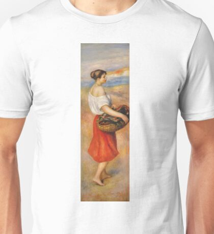 Auguste Renoir - Girl With A Basket Of Fish Unisex T-Shirt